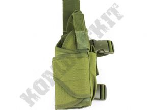 Right Leg Gun Holster Green OD Adjustable | Airsoft Tactical Gear | KOMBATKIT SHOP